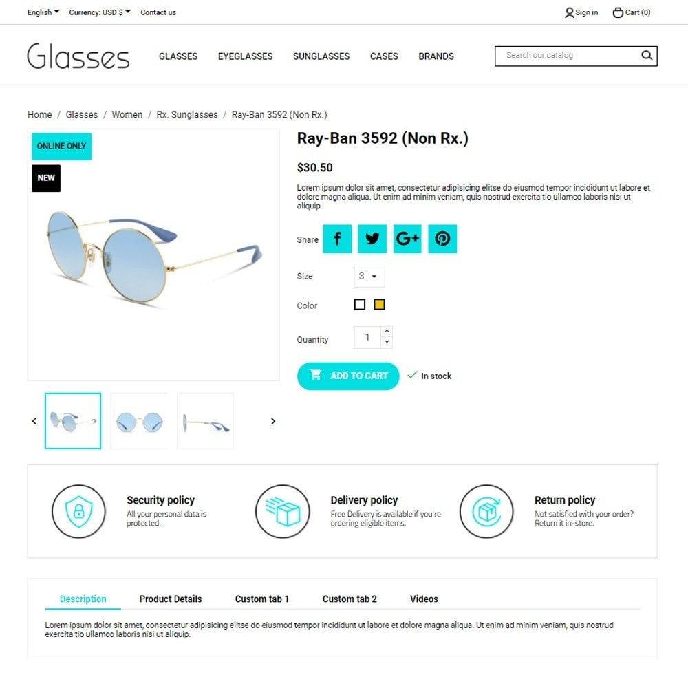 theme - Bellezza & Gioielli - Glasses - 5