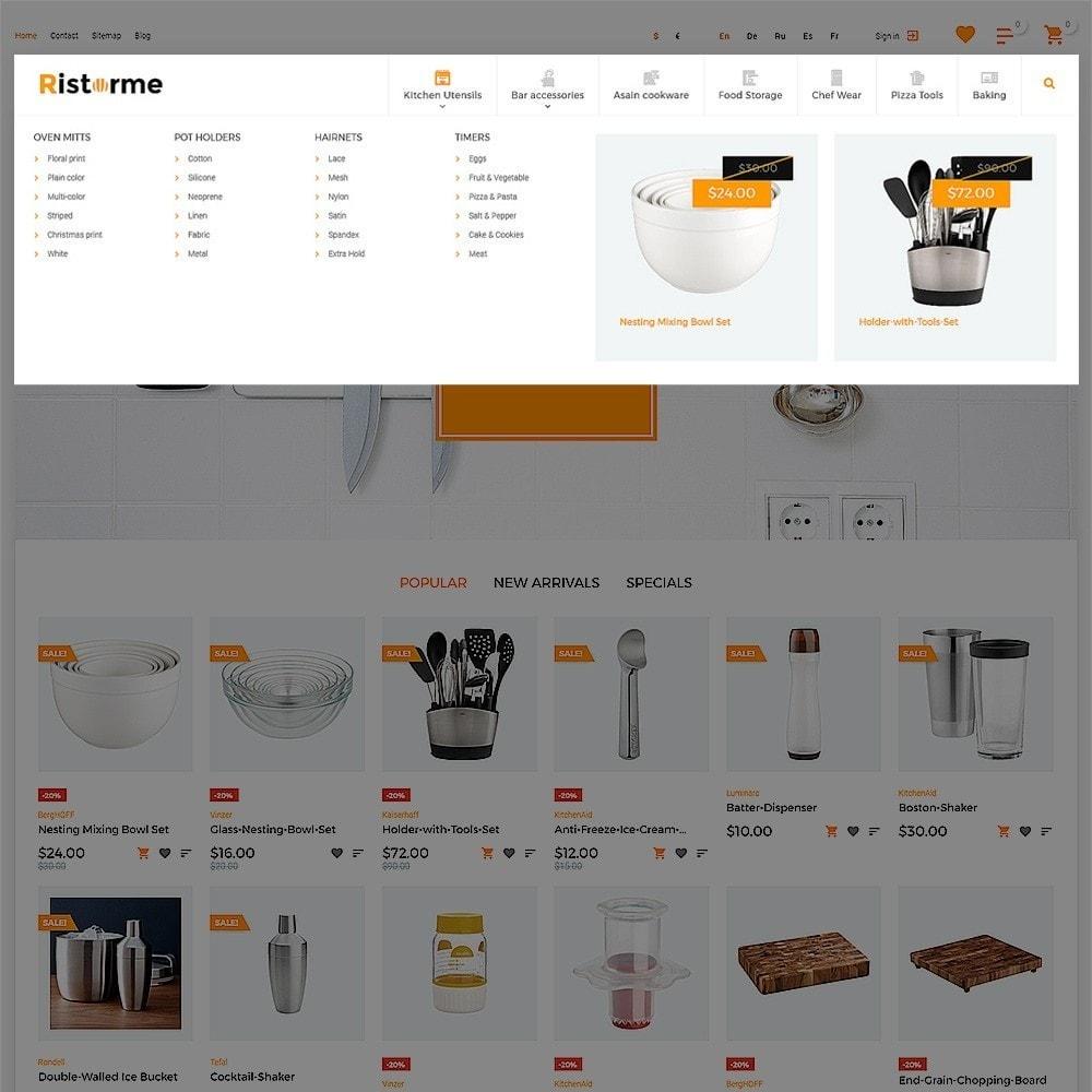 theme - Продовольствие и рестораны - Ristorme - Restaurant Equipment & Houseware - 6