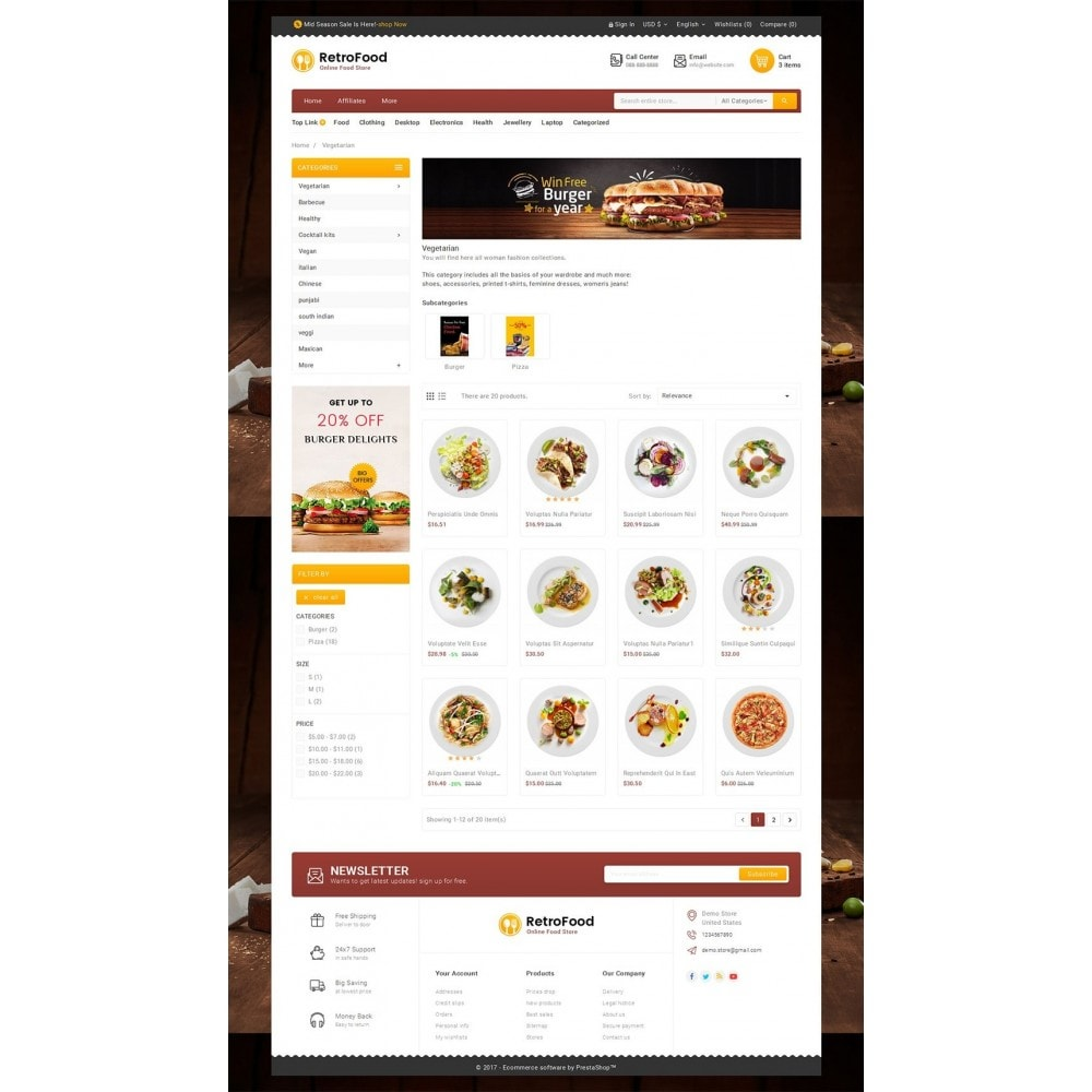 theme - Alimentation & Restauration - Fast Foods Mega Store - 3