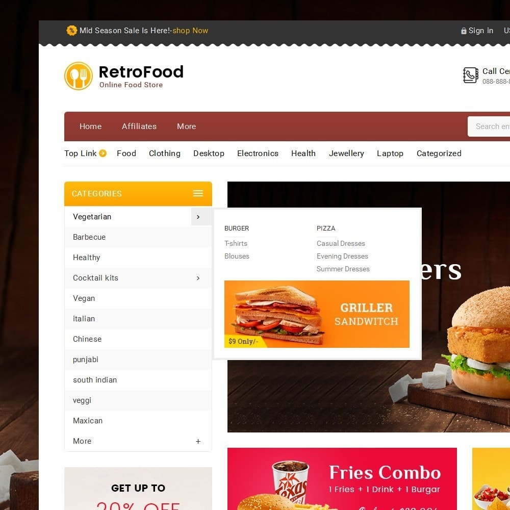 theme - Alimentos & Restaurantes - Fast Foods Mega Store - 9