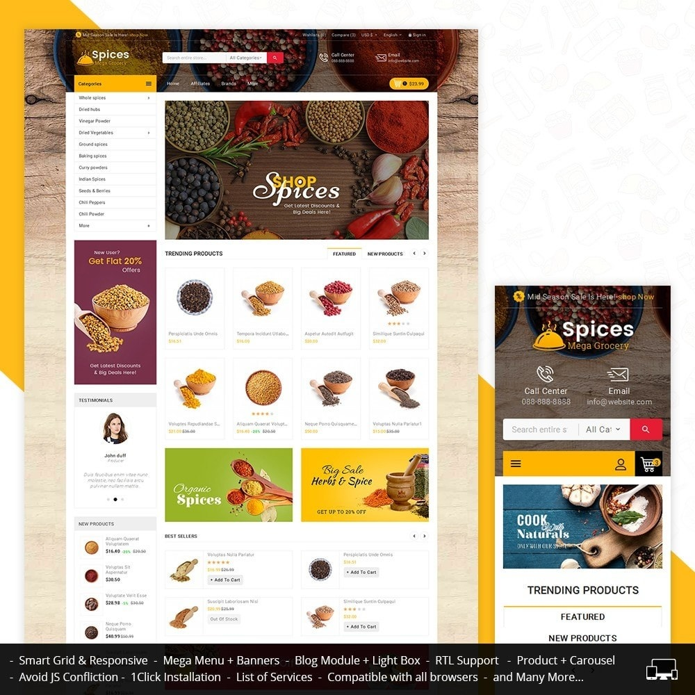 theme - Lebensmittel & Restaurants - Spices Mega Store - 1