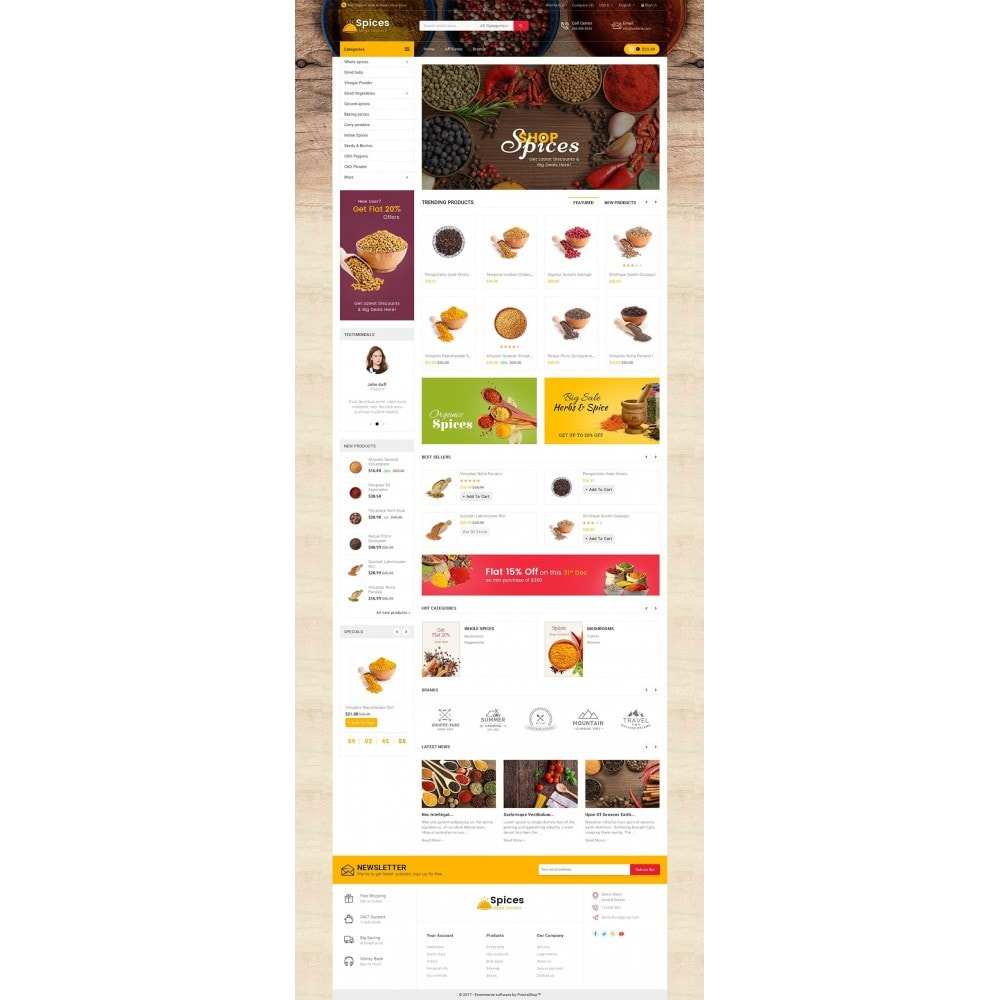 theme - Food & Restaurant - Spices Mega Store - 2