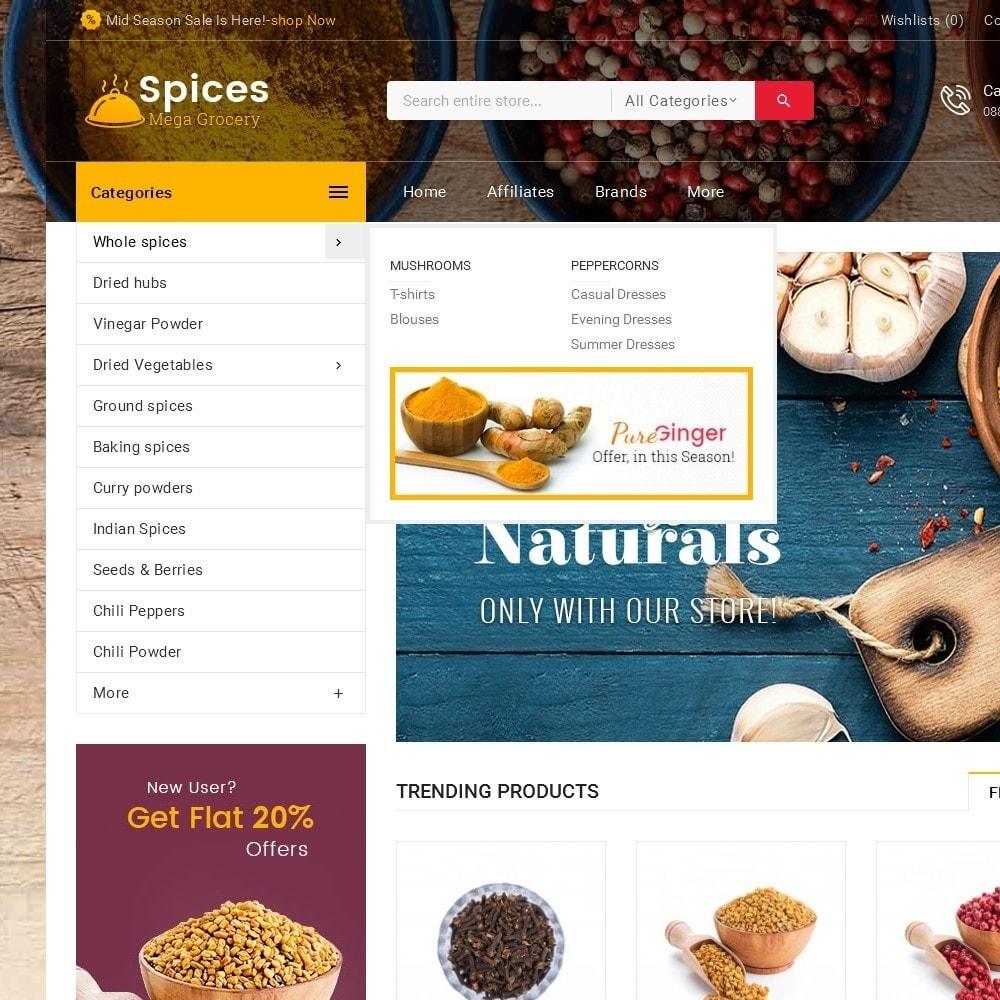theme - Alimentos & Restaurantes - Spices Mega Store - 9