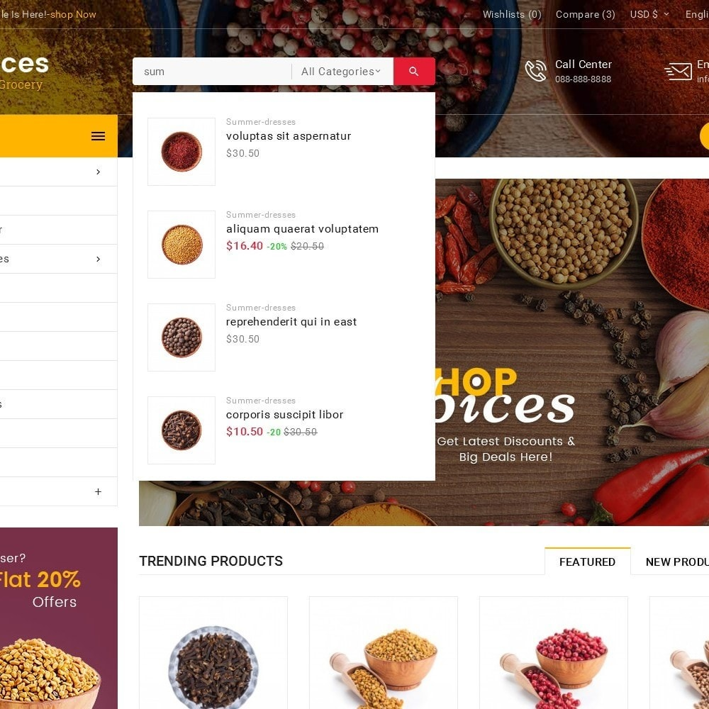 theme - Food & Restaurant - Spices Mega Store - 10
