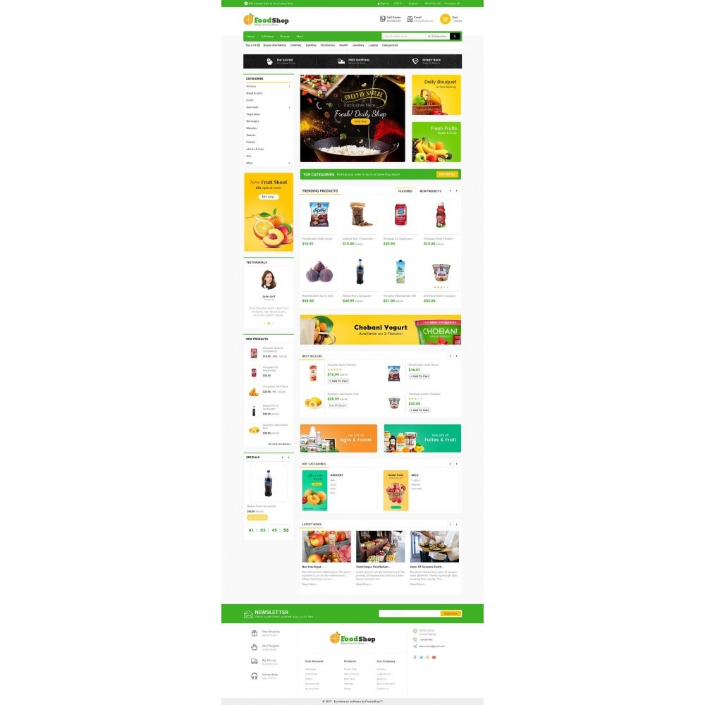 theme - Food & Restaurant - Grocery Food Mega Store - 2