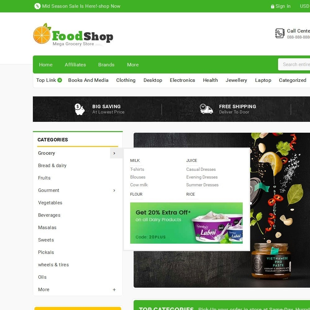 theme - Food & Restaurant - Grocery Food Mega Store - 9