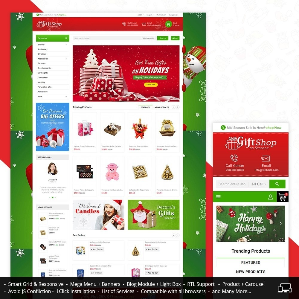 theme - Gifts, Flowers & Celebrations - Christmas Gift Mega Store - 1