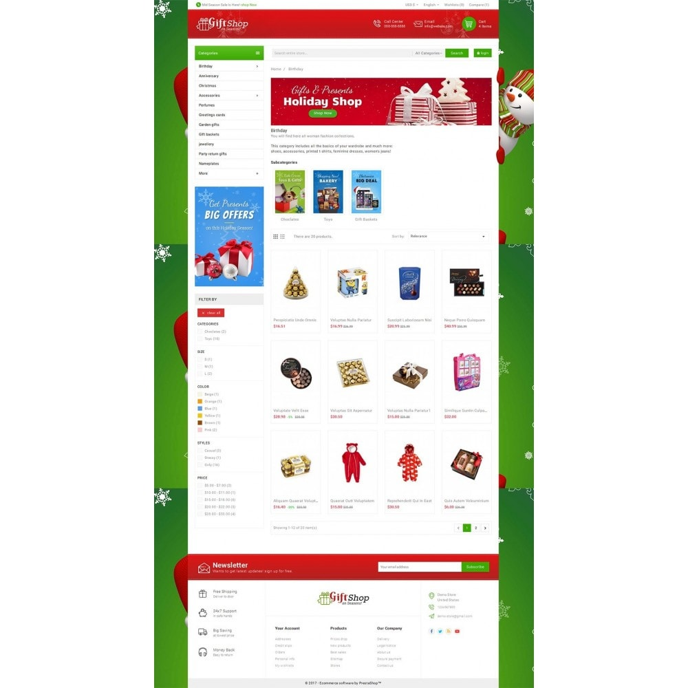 theme - Gifts, Flowers & Celebrations - Christmas Gift Mega Store - 3