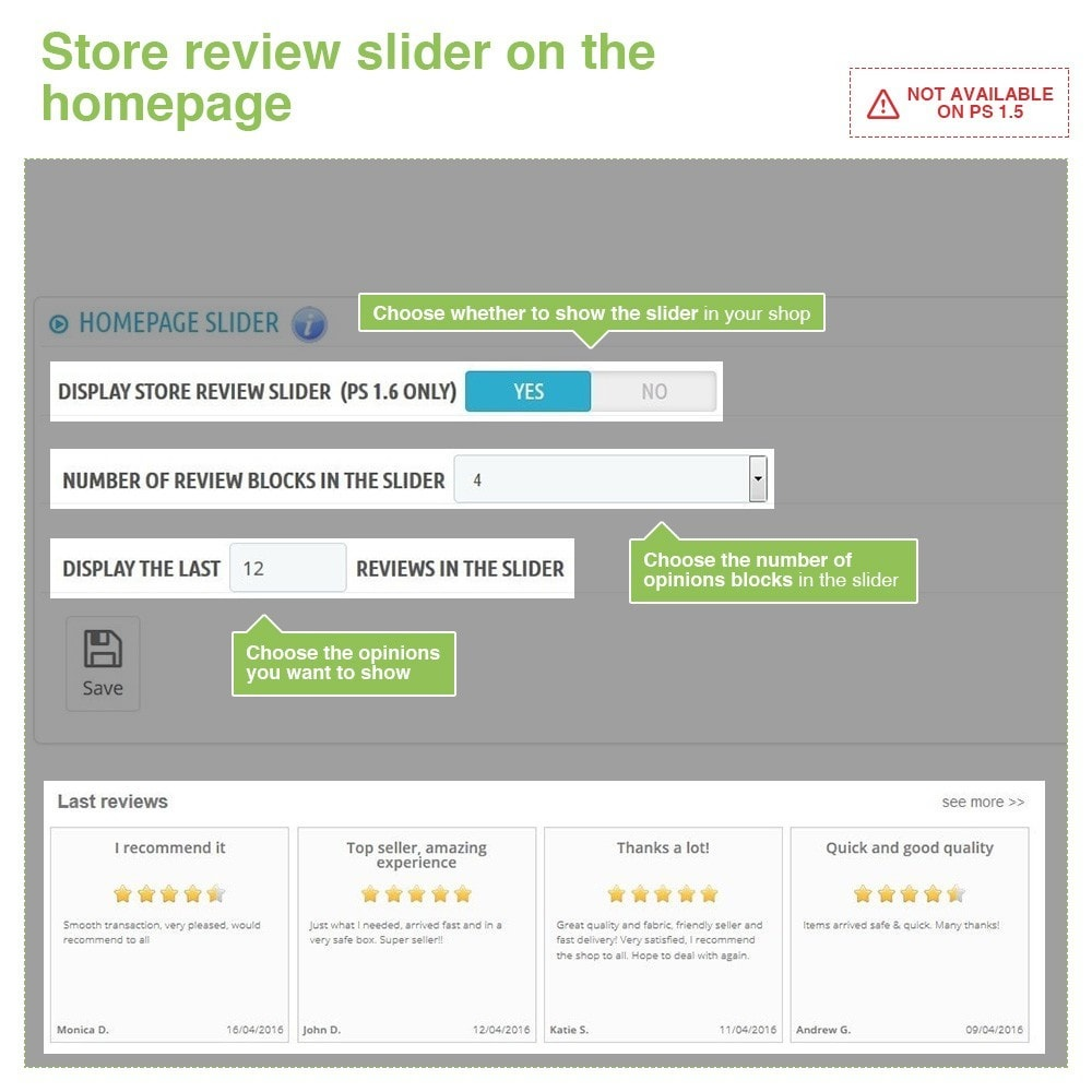 module - Klantbeoordelingen - Store Reviews + Product Reviews + Google Rich Snippets - 12