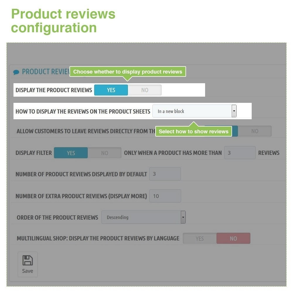 module - Klantbeoordelingen - Store Reviews + Product Reviews + Google Rich Snippets - 13