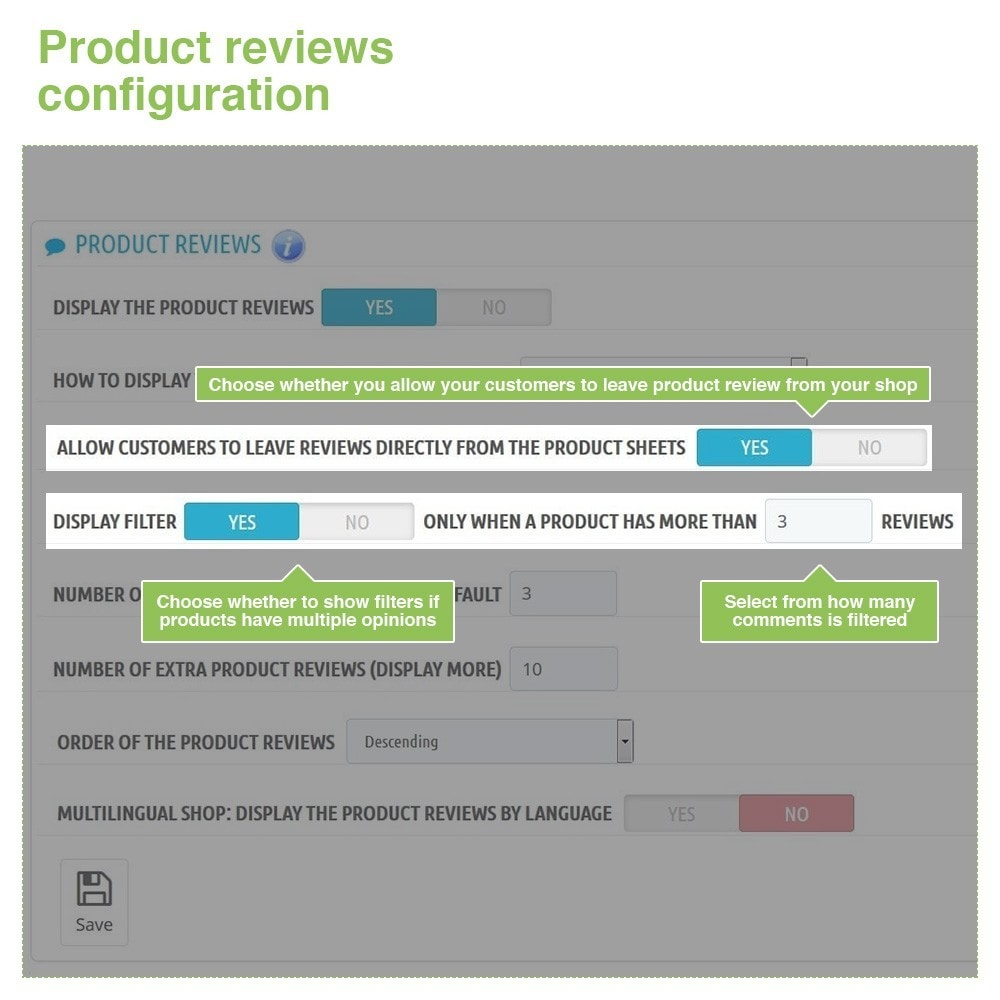 module - Customer Reviews - Store Reviews + Product Reviews + Google Rich Snippets - 13