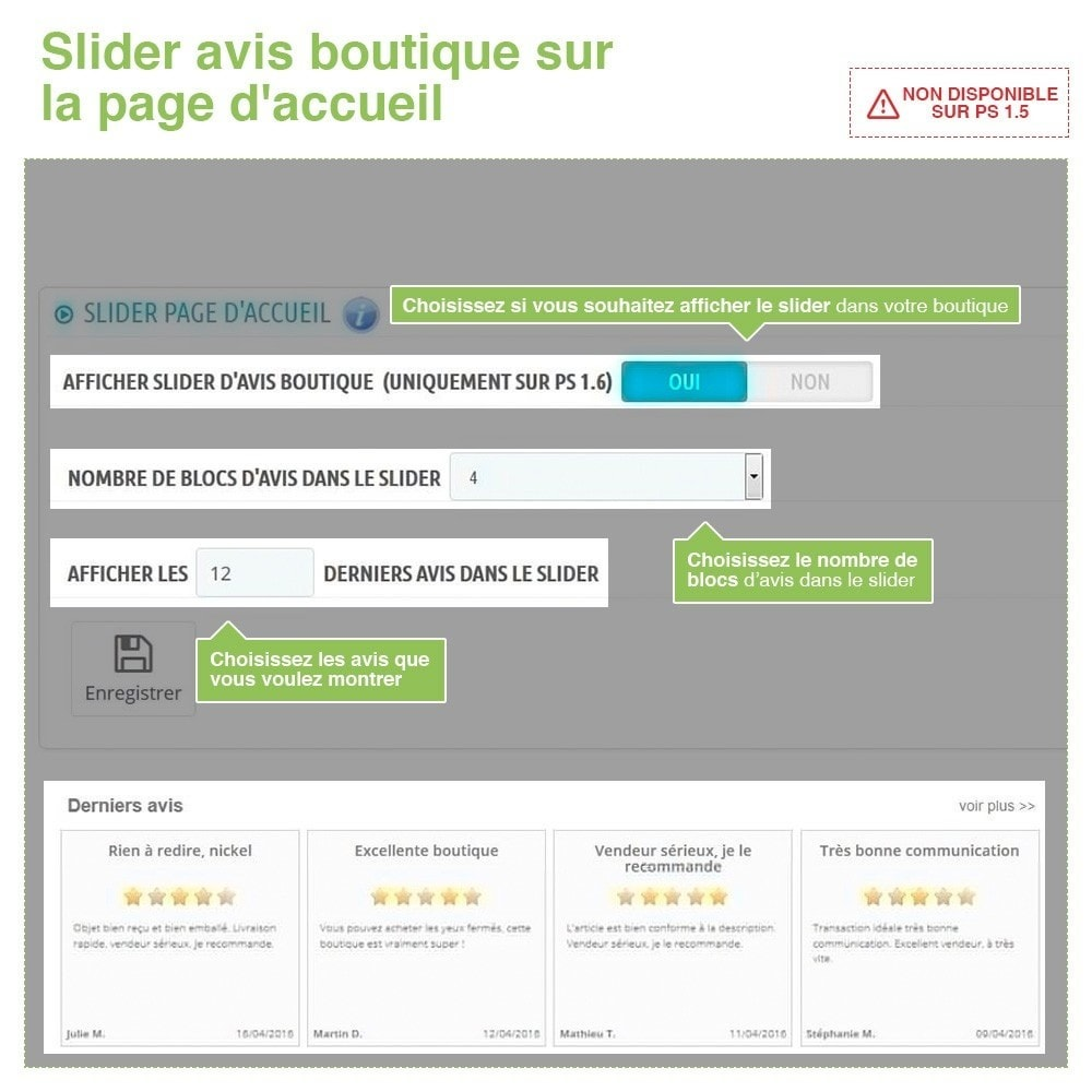 bundle - Avis clients - Confiance - Rassurez vos Clients - 3 Modules - 12