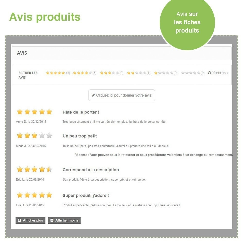 bundle - Avis clients - Confiance - Rassurez vos Clients - 3 Modules - 20