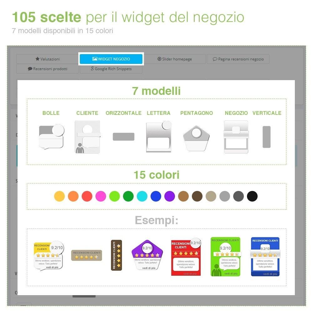 module - Recensioni clienti - Recensioni Negozio + Recensioni Prodotti + Snippets - 5
