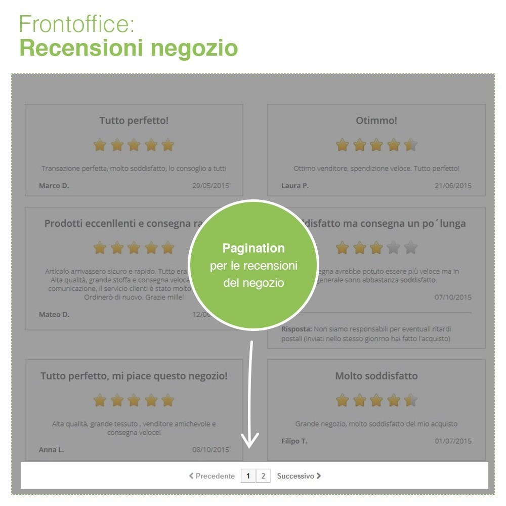 module - Recensioni clienti - Recensioni Negozio + Recensioni Prodotti + Snippets - 11