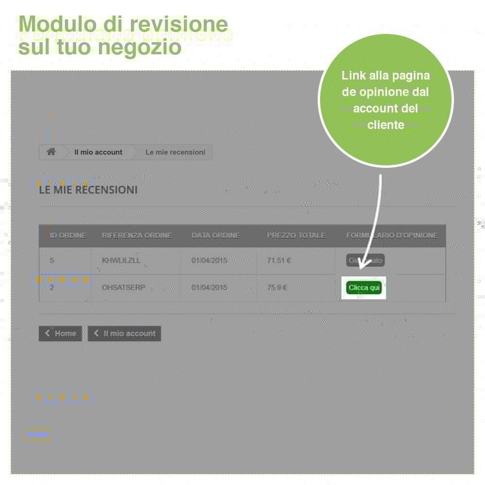module - Recensioni clienti - Recensioni Negozio + Recensioni Prodotti + Snippets - 31