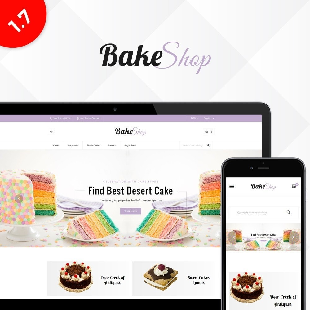 theme - Food & Restaurant - Bake Shop - 1