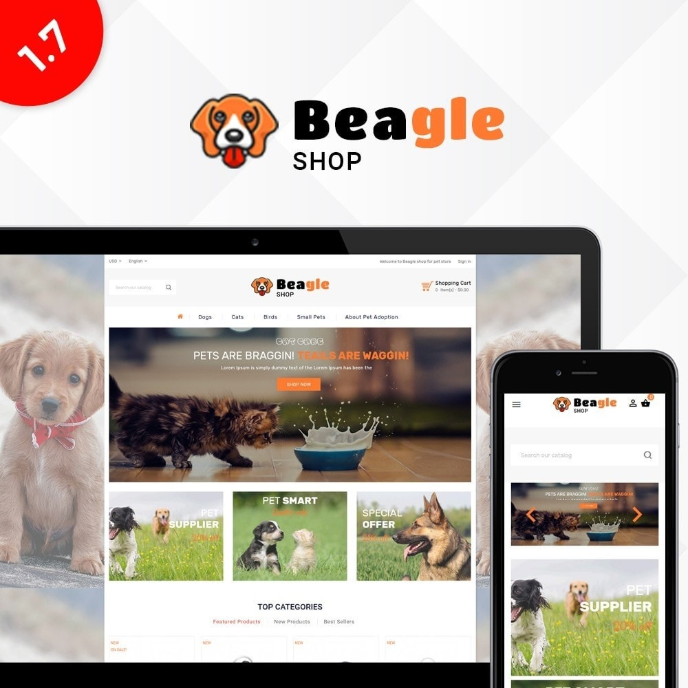 theme - Animales y Mascotas - Beagle shop - 1
