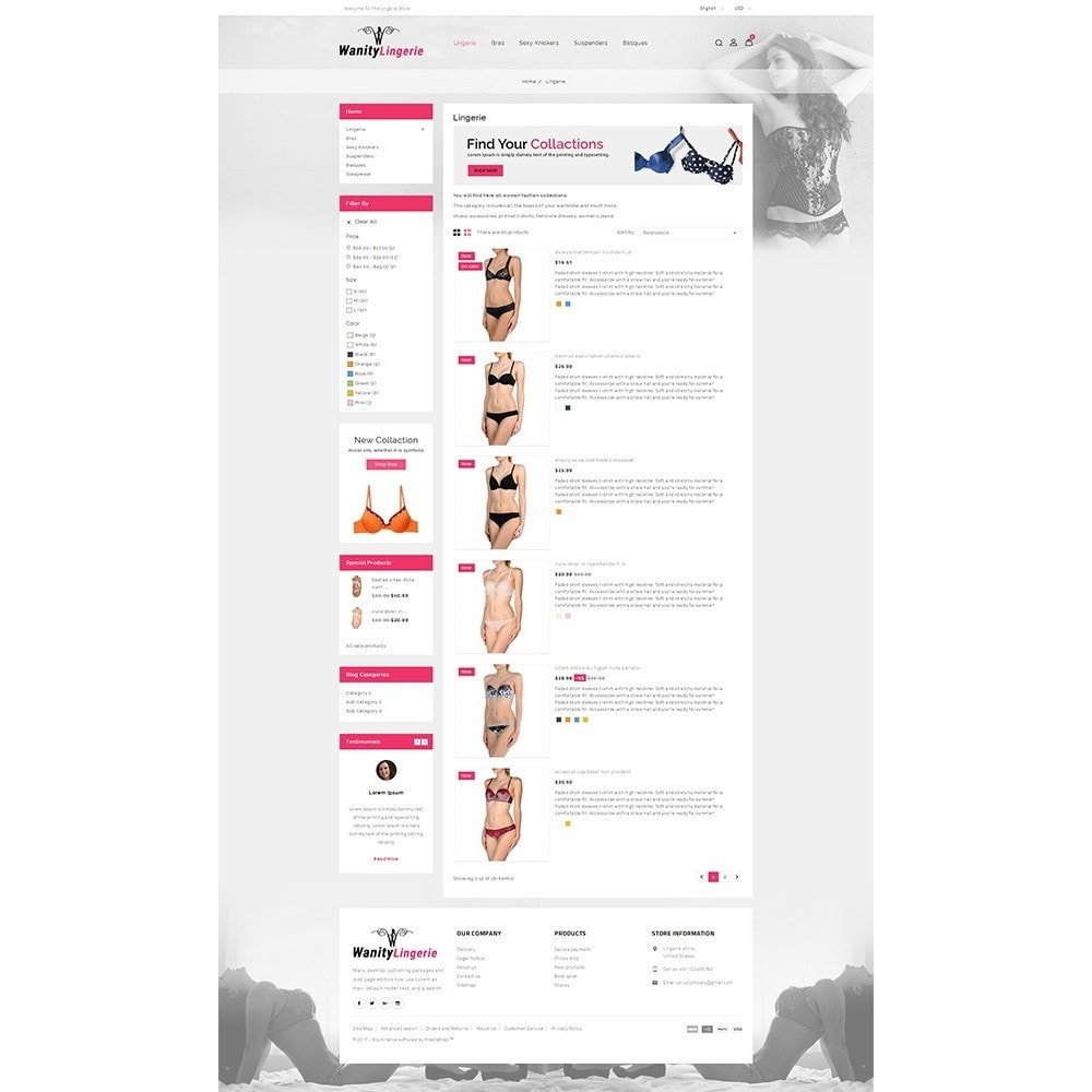 theme - Lingerie & Adultos - Wanity Lingerie Store - 4