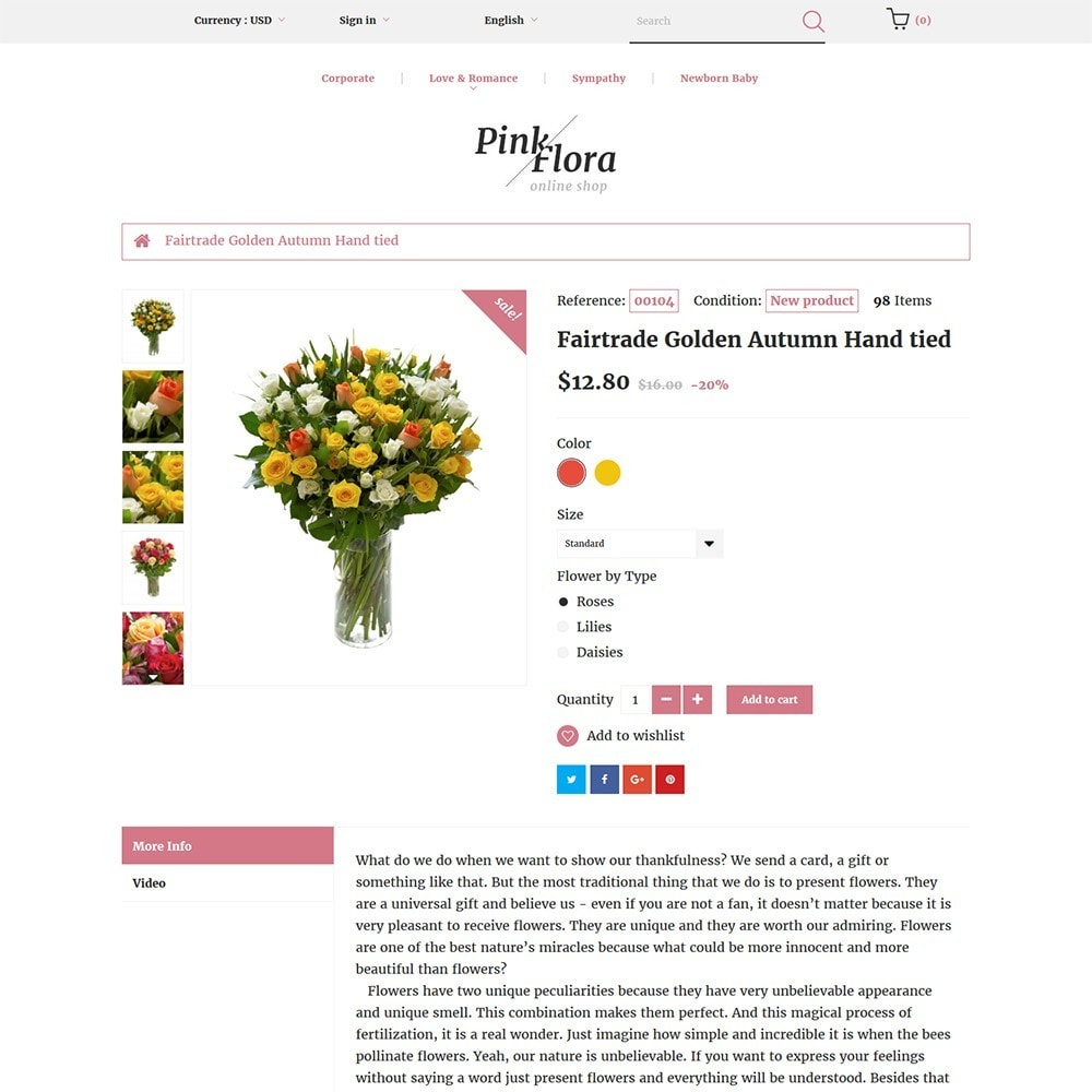 theme - Gifts, Flowers & Celebrations - Pink Flora - 3