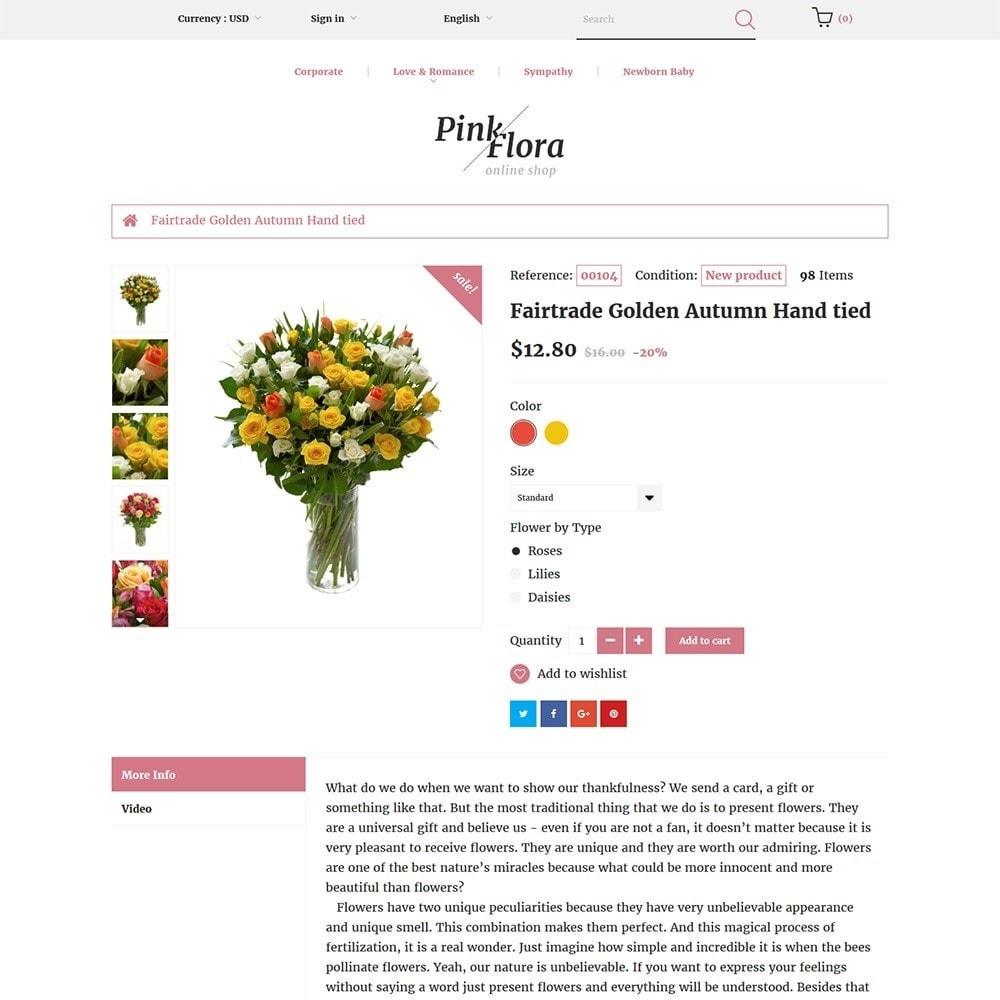 theme - Cadeaux, Fleurs et Fêtes - Pink Flora - 3