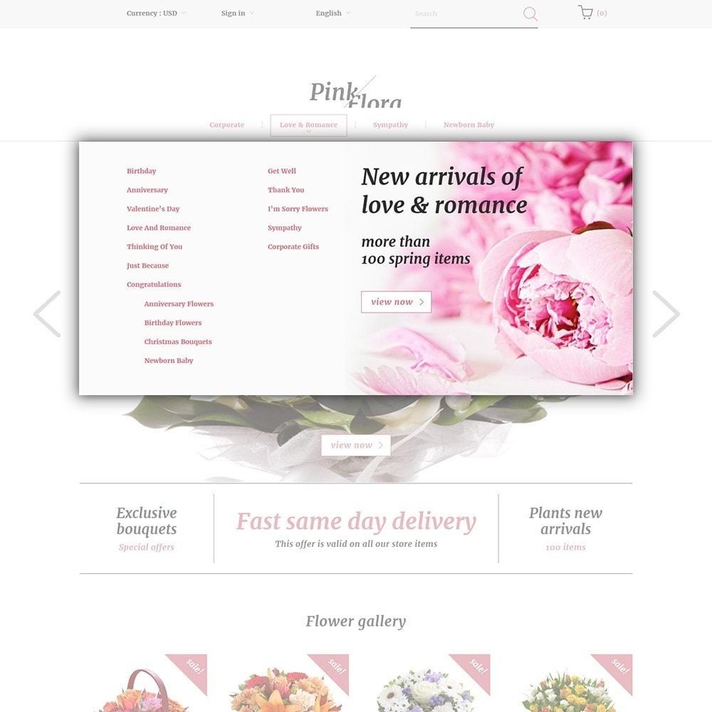 theme - Regalos, Flores y Celebraciones - Pink Flora - 5