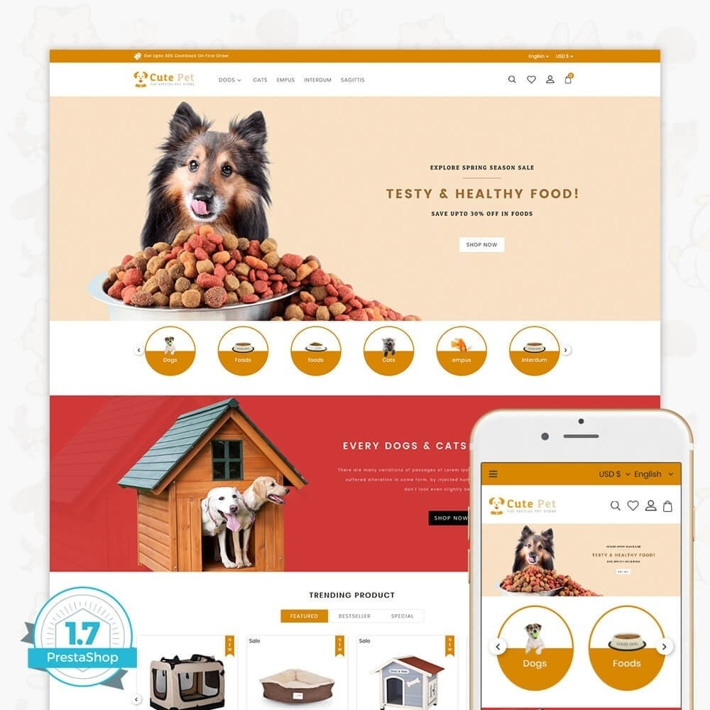 theme - Animales y Mascotas - Cute Pet - The Specials Pet Store - 1