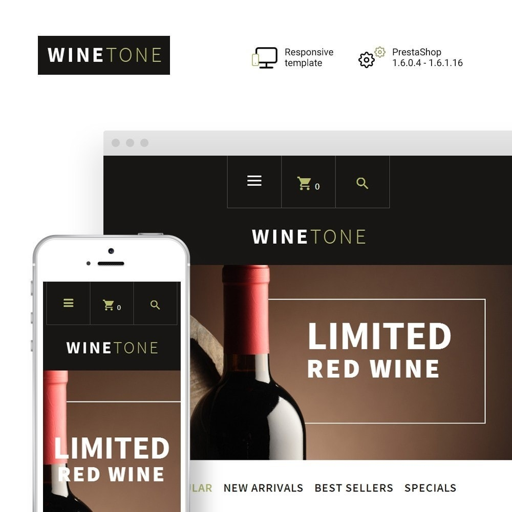theme - Drink & Tobacco - WineTone - 1