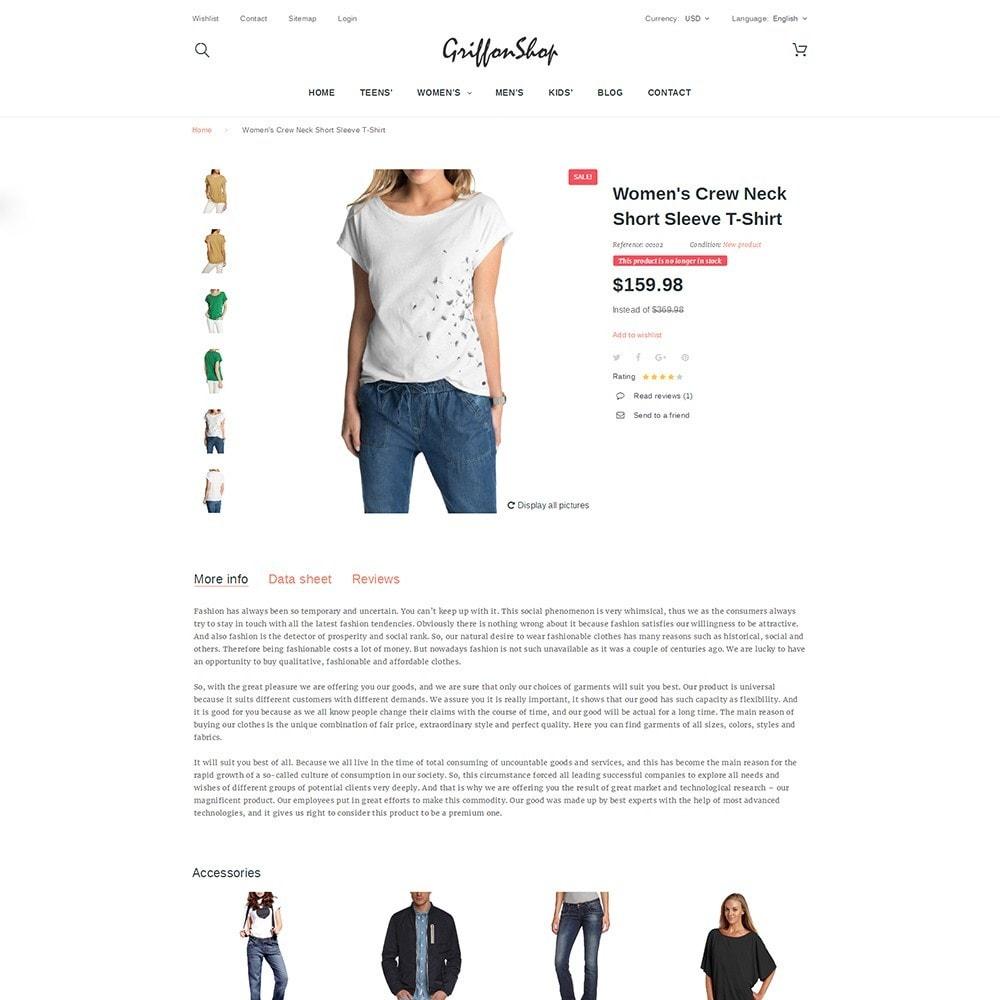 theme - Moda & Calzature - Griffon Shop - Apparel - 4
