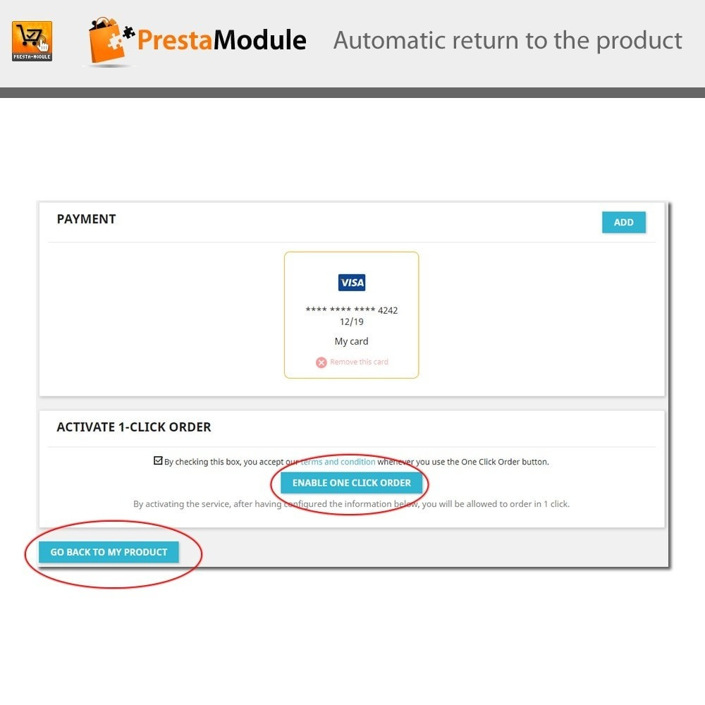 module - Express Checkout Process - One Click Order - 9