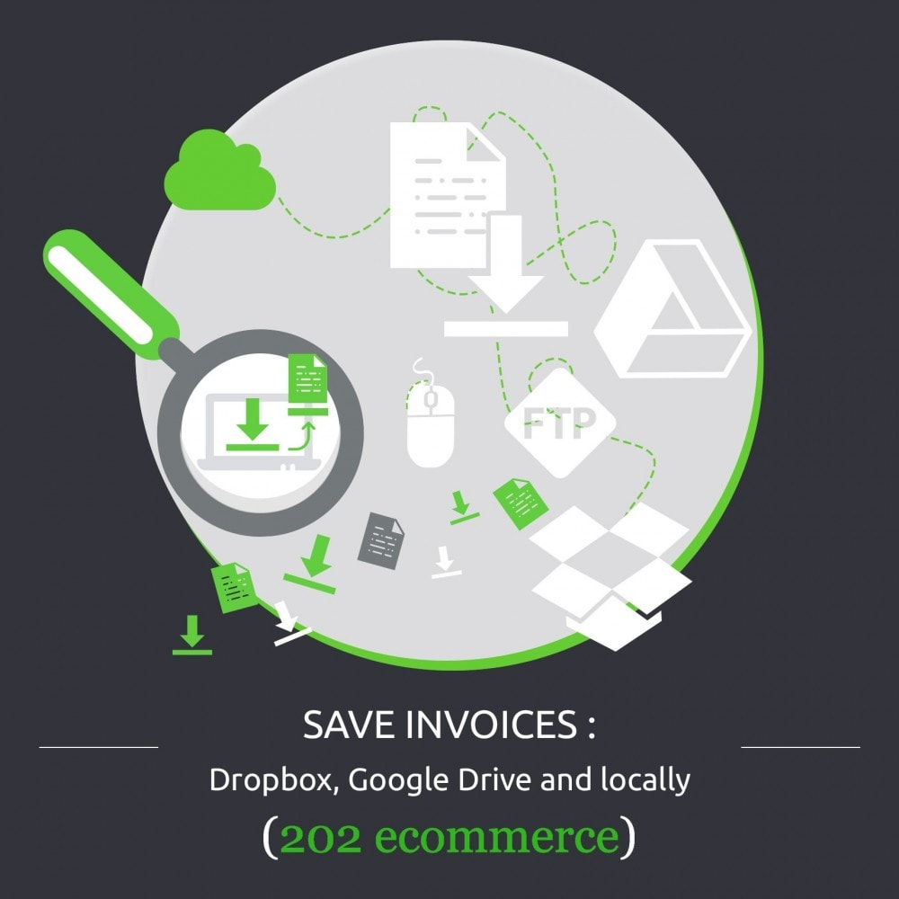 module - Migratie & Backup - Save Invoices: Dropbox, Google Drive and locally - 1