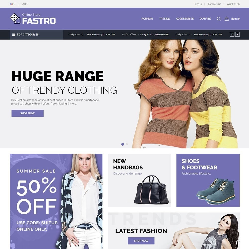 theme - Fashion & Shoes - Fastro Fashion Store - 2