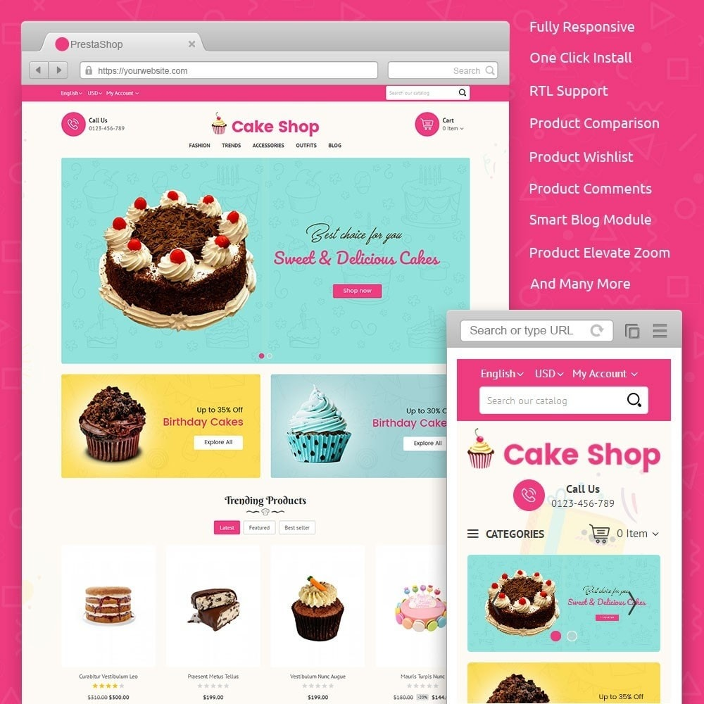 theme - Food & Restaurant - Cake Store - 1