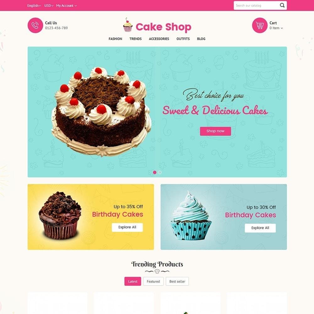 theme - Продовольствие и рестораны - Cake Store - 2