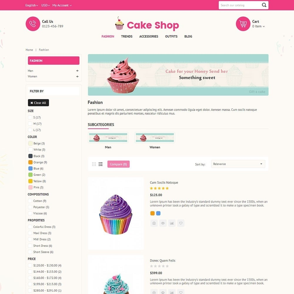 theme - Food & Restaurant - Cake Store - 4