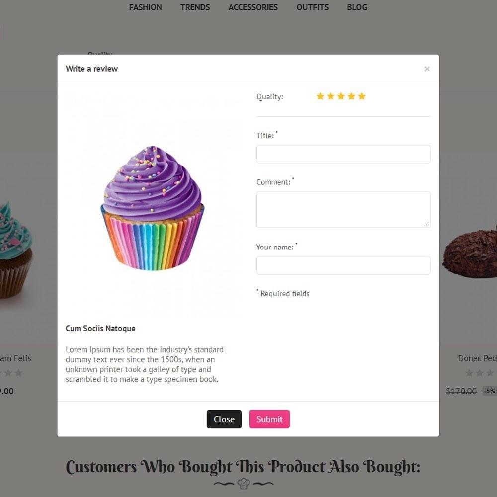 theme - Продовольствие и рестораны - Cake Store - 6