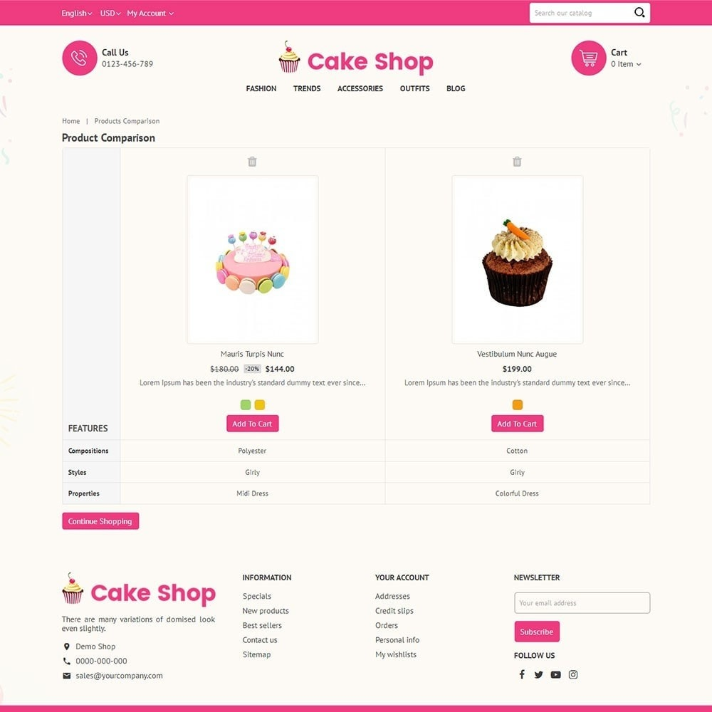 theme - Food & Restaurant - Cake Store - 7