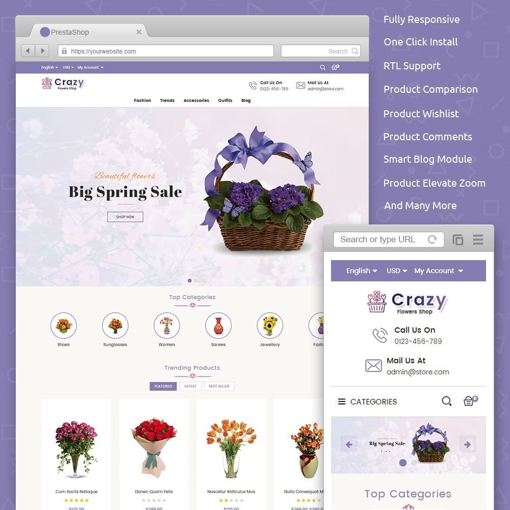 theme - Gifts, Flowers & Celebrations - Crazy Flower Store - 1