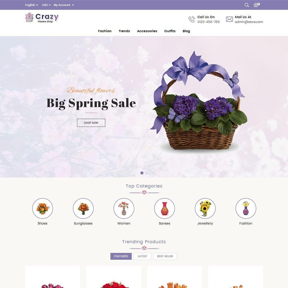 theme - Presentes, Flores & Comemorações - Crazy Flower Store - 2