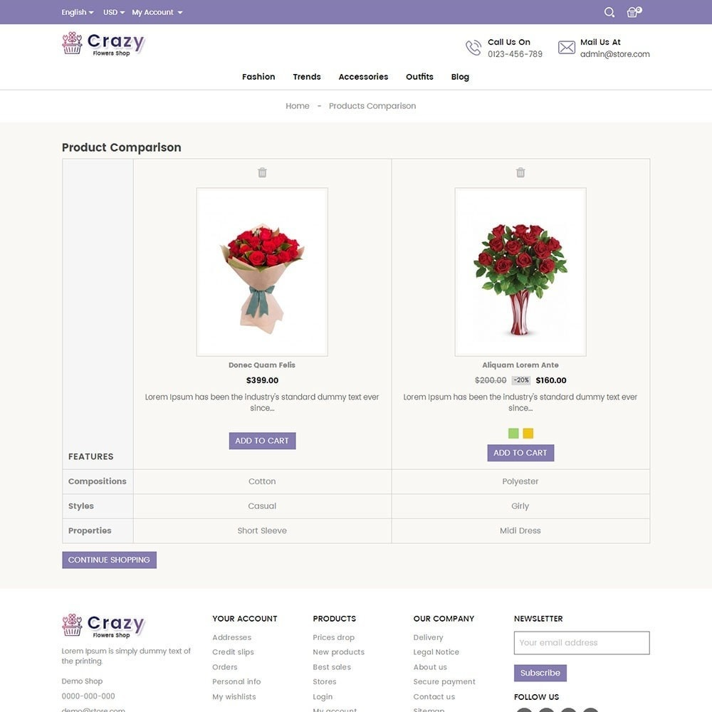 theme - Gifts, Flowers & Celebrations - Crazy Flower Store - 7