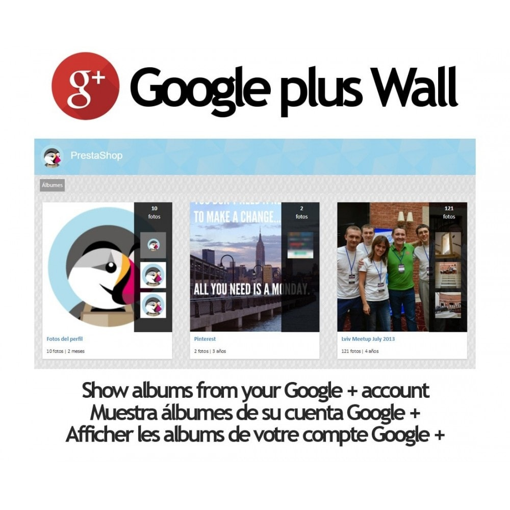 module - Slider & Gallerie - Google + Wall - 1