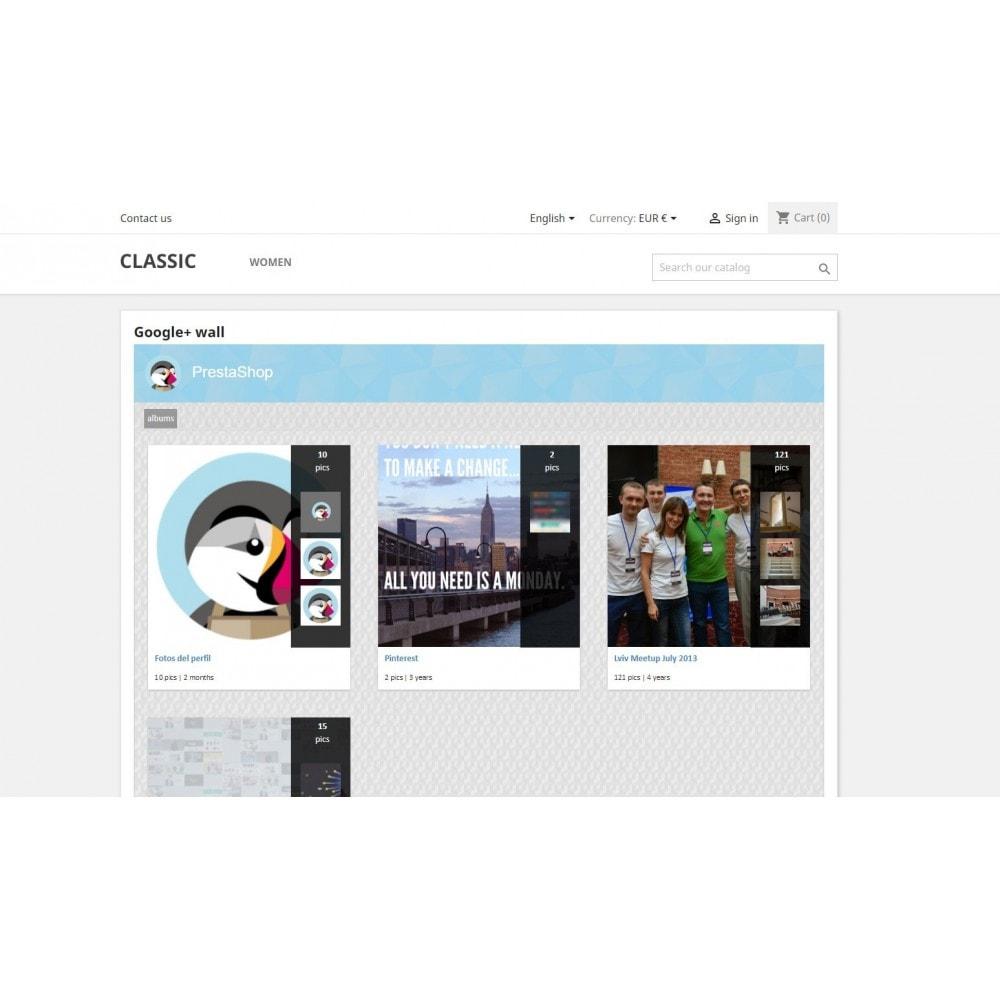 module - Sliders y Galerías de imágenes - Google + Wall - 4