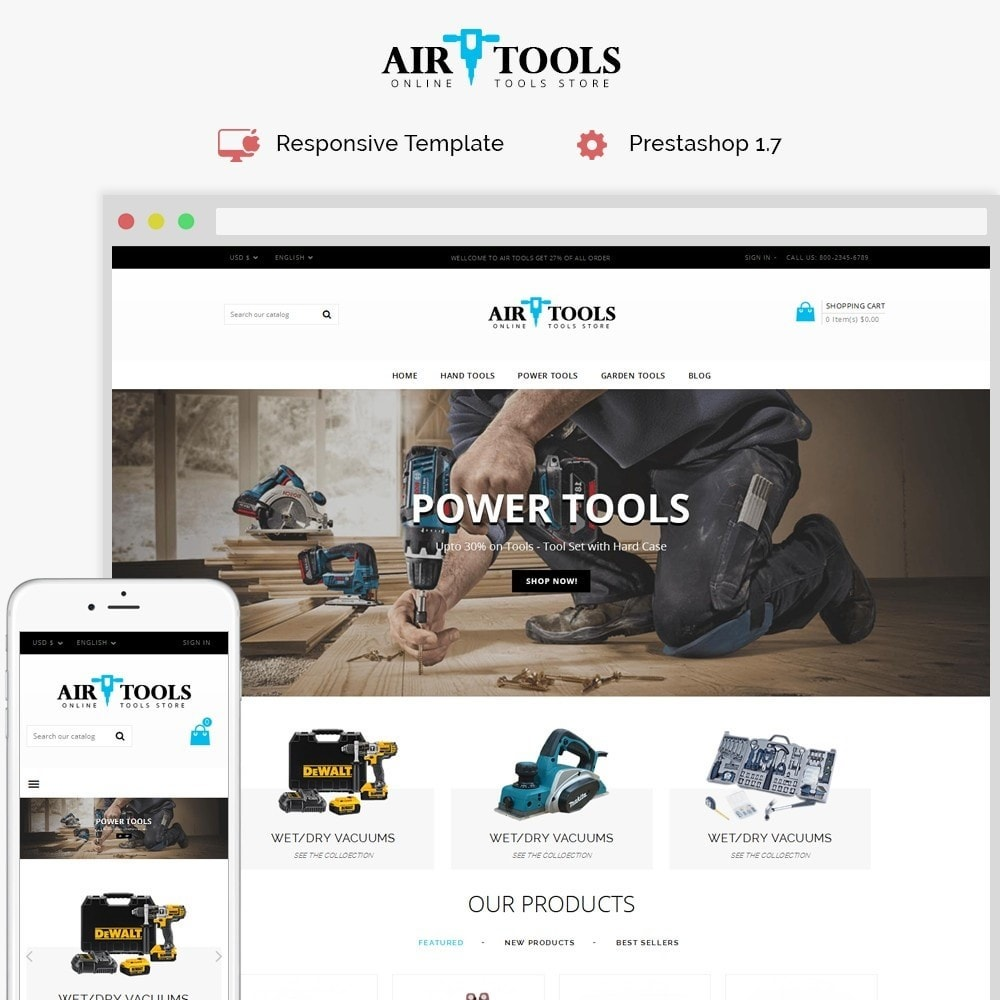 theme - Auto & Moto - Air Tools Store V2 - 1