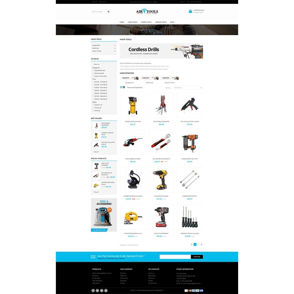 theme - Auto & Moto - Air Tools Store V2 - 3