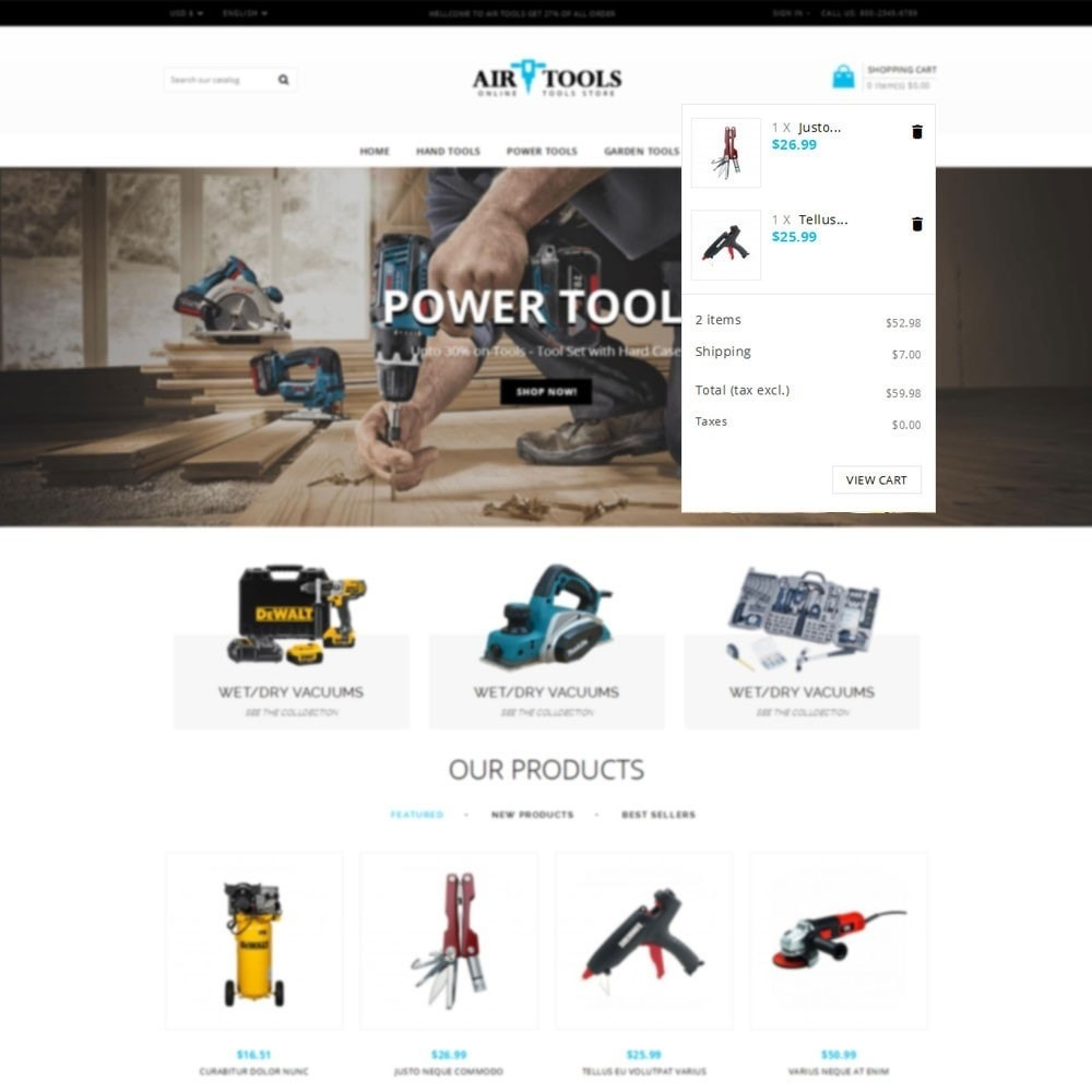 theme - Auto & Moto - Air Tools Store V2 - 6