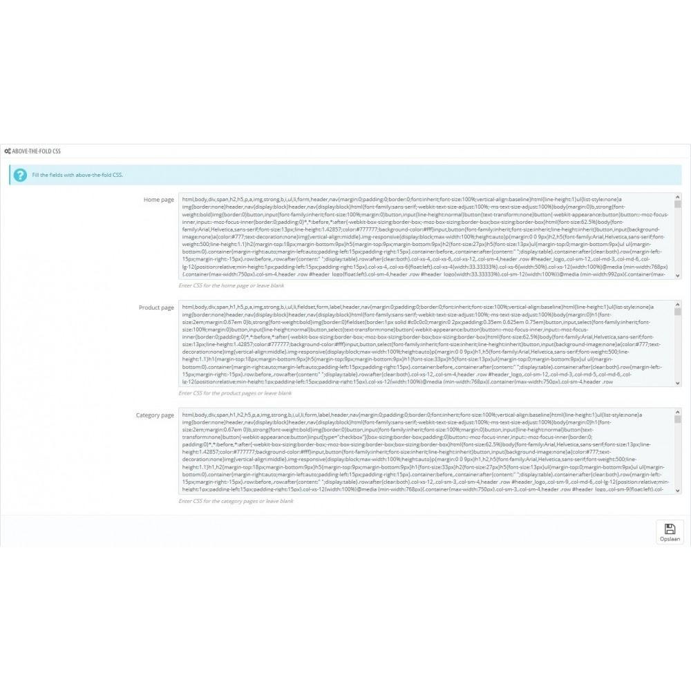module - Wydajnośc strony - Critical Path CSS Manager - 3