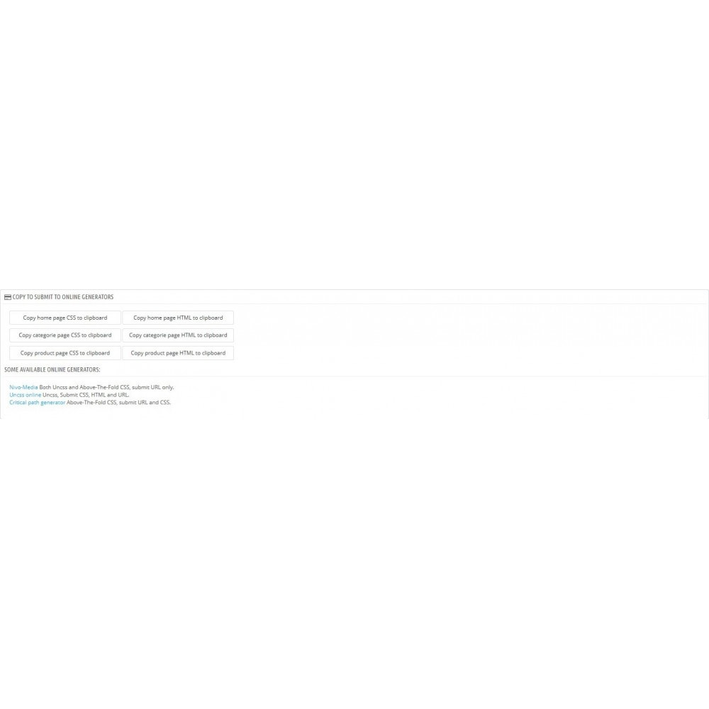 module - Performance du Site - Critical Path CSS Manager - 5