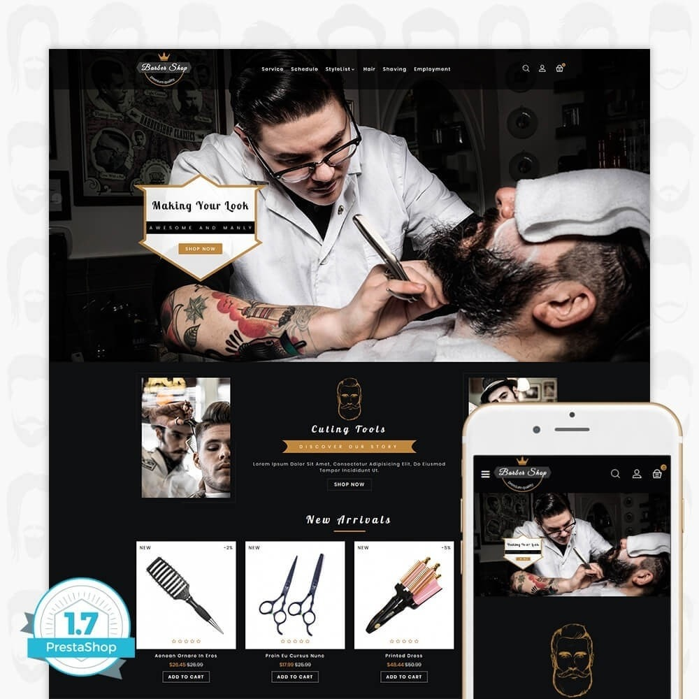 theme - Salud y Belleza - Barber Shop - The Premium Shop - 1