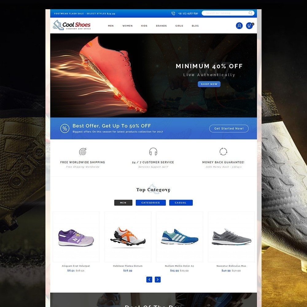 Cool Shoes Store Template