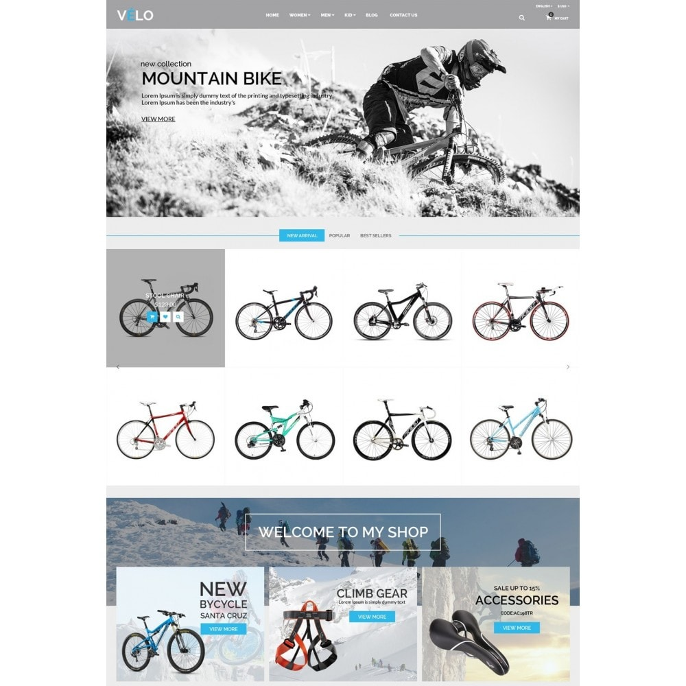 theme - Sports, Activities & Travel - VeLo Bike Sport Store - 2